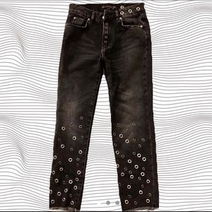 Zara TRF Grommet Jeans